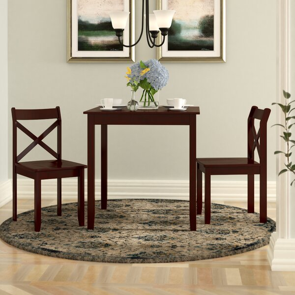 Flossmoor 3 Piece Dining Set by Charlton Home