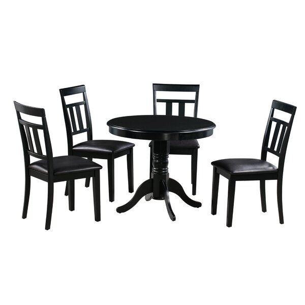 Johan 5 Piece Solid Wood Dining Set By Alcott Hill Design
