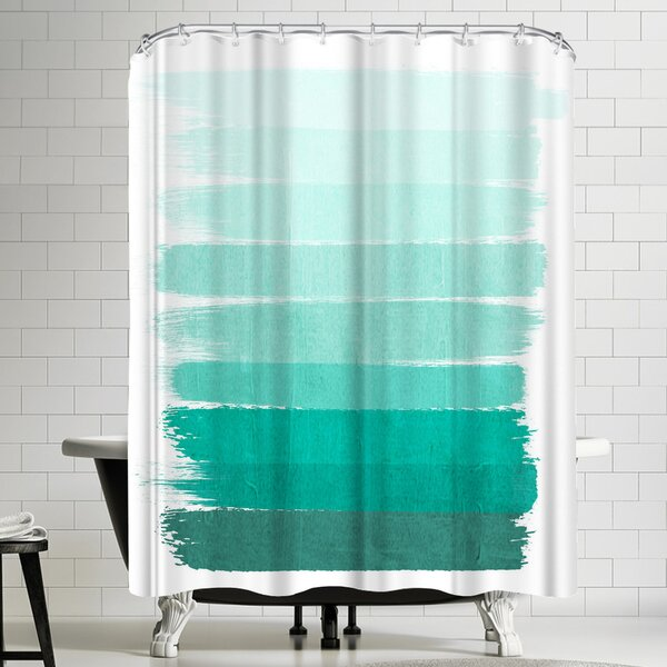 Ombre Shower Curtain by East Urban Home
