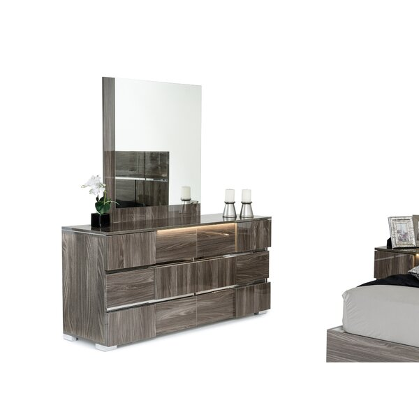 Falbo 6 Drawer Dresser with Mirror by Orren Ellis