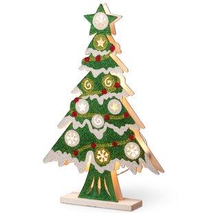 Pre Lit Wooden Christmas Tree