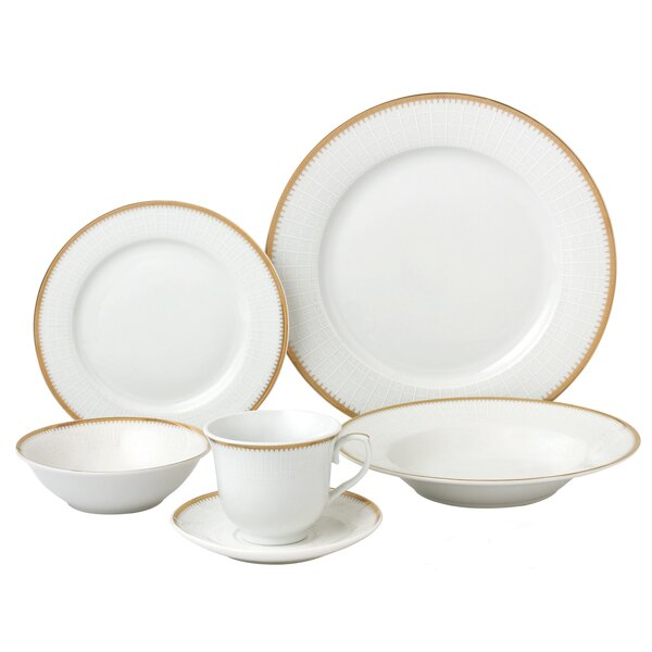 24 Piece Dinnerware Set, Service for 4 by Lorren Home Trends