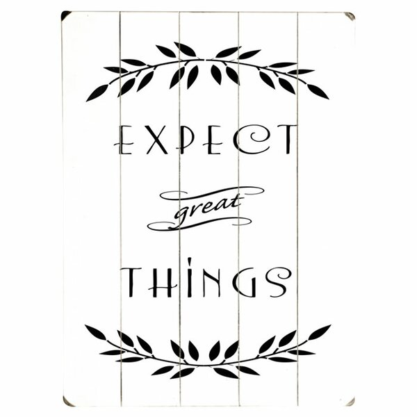 Expect Great Things Graphic Art Print Multi-Piece Image on Wood by Artehouse LLC