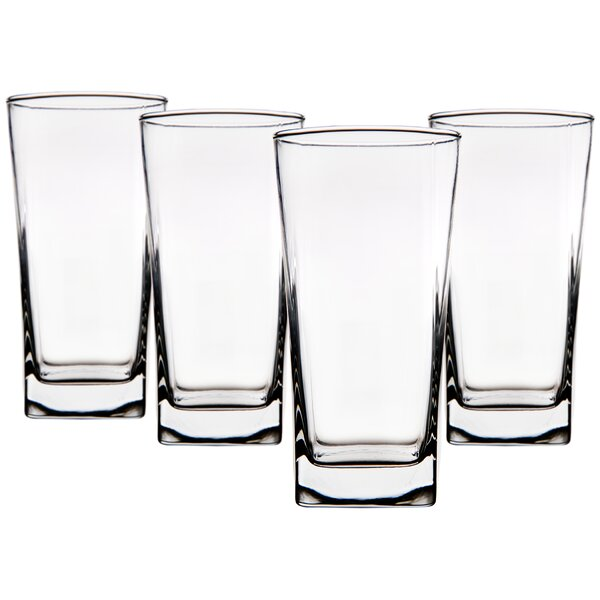 Ida 16 oz. Glass Highball Glass (Set of 4) by Mint Pantry