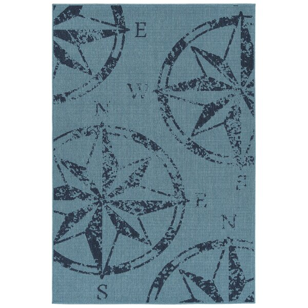 Ciaran Blue Indoor/Outdoor Area Rug by Longshore Tides