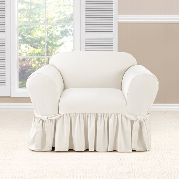 Essential Twill Box Cushion Armchair Slipcover by Sure Fit