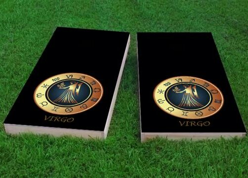 Zodiac Virgo Themed Cornhole Game (Set of 2) by Custom Cornhole Boards