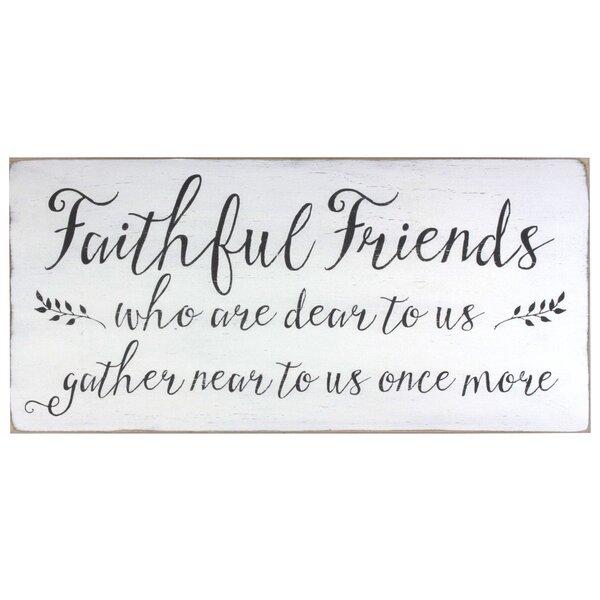Faithful Friends Textual Art Plaque by Barn Owl Primitives