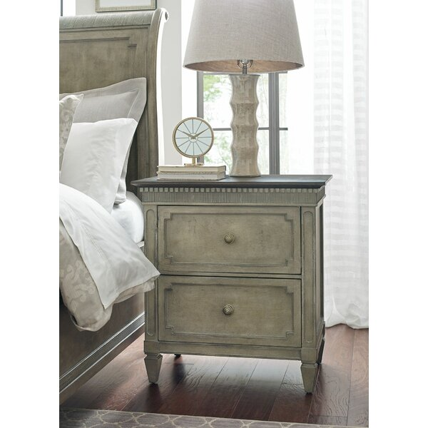 Ainsley 2 Drawer Nightstand by One Allium Way