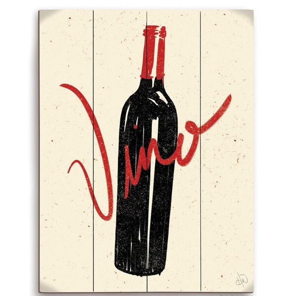 Bottle Of Vino Graphic Art by Click Wall Art