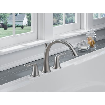 Tub Faucet Deck Mount Double Handle Trim Stainless 242 Product Image