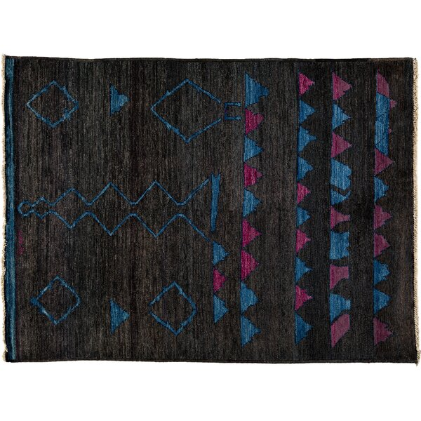 One-of-a-Kind Kaitag Hand-Knotted Black Area Rug by Darya Rugs