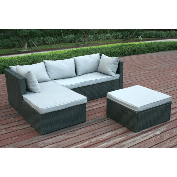 Joanne Garden Patio Sectional with Cushions by Ivy Bronx Ivy Bronx