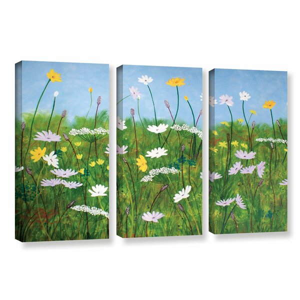 Wildflowers of Finland 3 Piece Photographic Print on Wrapped Canvas Set by August Grove