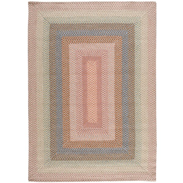 Dray Hand-Woven Coral Area Rug by August Grove