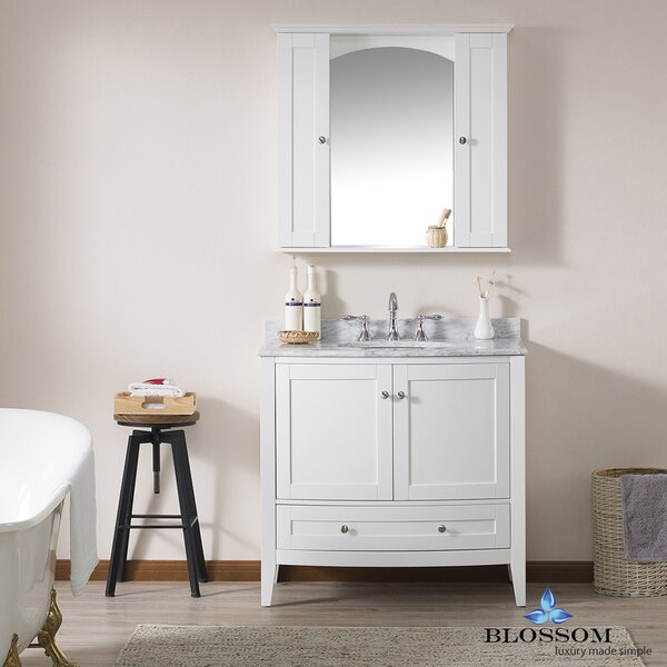 Glendale 36 Single Bathroom Vanity Set with Mirror by Darby Home CoGlendale 36 Single Bathroom Vanity Set with Mirror by Darby Home Co
