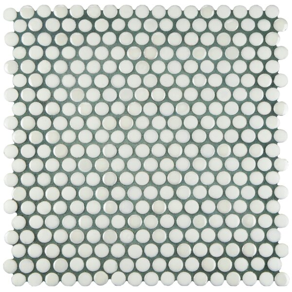 Tucana 0.59 x 0.59 Porcelain Mosaic Tile in White by EliteTile