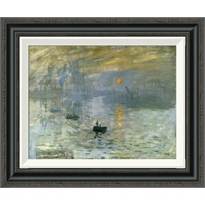 'Impression: Sunrise' by Claude Monet Framed Painting Print by Global Gallery