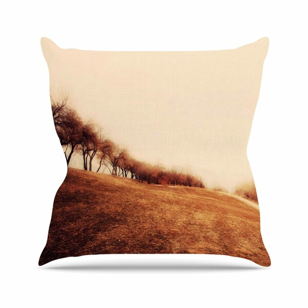 Sylvia Coomes Minimalist Autumn Landscape Outdoor Throw Pillow by East Urban Home