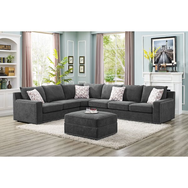 Makah 5 Seater Right Hand Facing Modular Sectional With Ottoman By Wrought Studio
