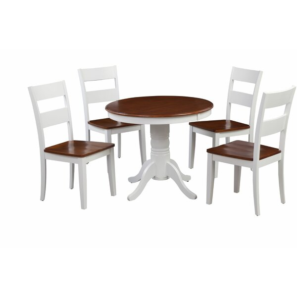 McDiarmid Fulantville 5 Piece Breakfast Nook Solid Wood Dining Set by August Grove August Grove