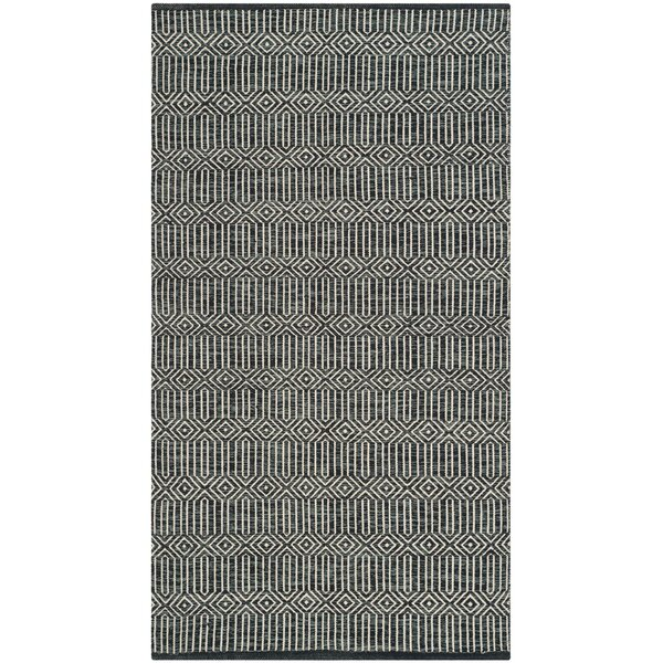 Shevchenko Place Hand-Woven Ivory / Dark Gray Area Rug by Wrought Studio