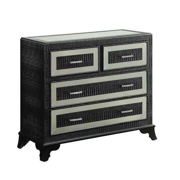 Price Sale Glamour 4 Drawer Chest