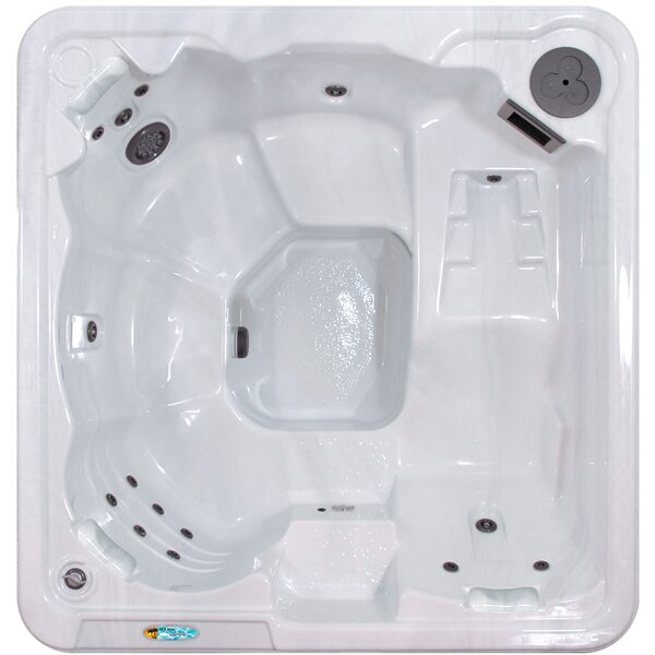 Antigua 5-Person 30-Jet Spa with Lounger Seat by QCA Spas