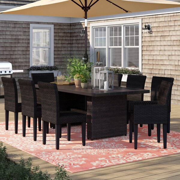 Tegan 9 Piece Dining Set by Sol 72 Outdoor