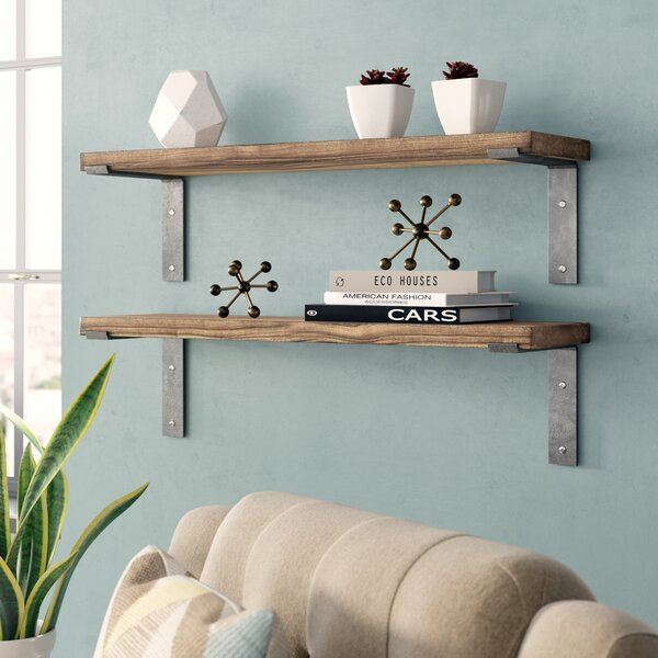 Orlando Industrial Accent Shelves (Set Of 2) By Langley Street