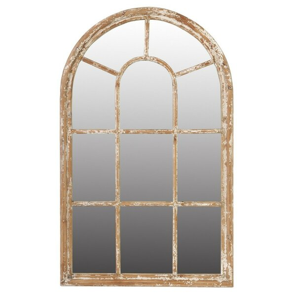 Waylon Arched Wooden Framed Accent Mirror by Ophelia & Co.