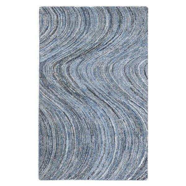 Mekdad Hand-Tufted Blue Area Rug by Bungalow Rose