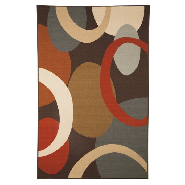 Savanah Rust Area Rug by Ebern Designs