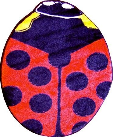 Fun Shape High Pile Ladybug Area Rug by Fun Rugs