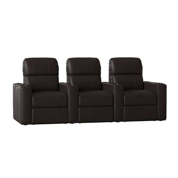 Home Theater Recliner (Row Of 3) By Red Barrel Studio
