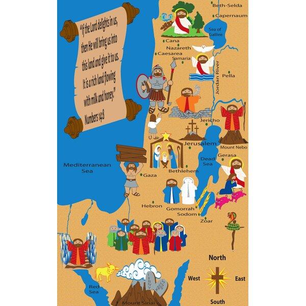 Kid Carpet Holy Land Map Sunday School Area Rug & Reviews