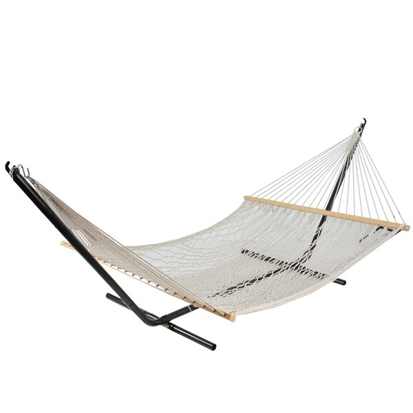 Hopper Lattice Pattern Netted Tree Hammock by Bungalow Rose