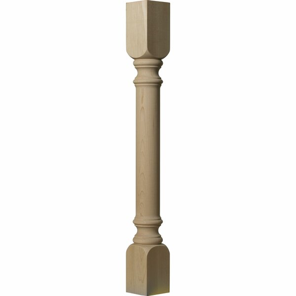 35 1/2H x 3 3/4W x 3 3/4D Traditional Cabinet Column in Alder by Ekena Millwork