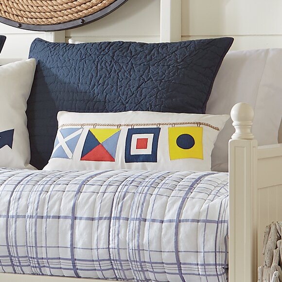 Nautical Flags Fleet Pillow Cover by Birch Lane™