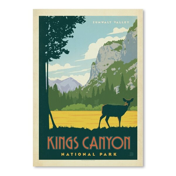 Kings Canyon National Park Vintage Advertisement by East Urban Home