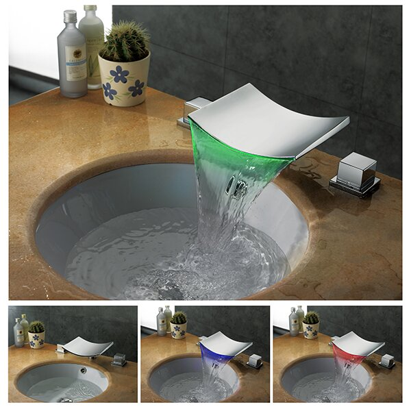 Kokols Widespread Vessel Sink Faucet & Reviews | Wayfair