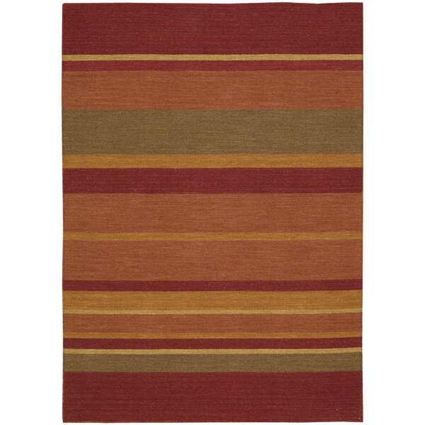 Plateau Sumac Bands Madder Area Rug by Calvin Klein