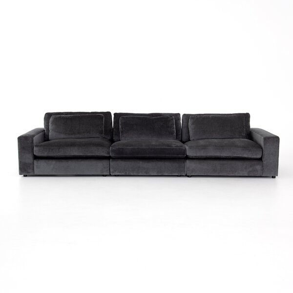 Doutzen 3-Pc 135-inch Square Arms Sectional Sofa by Brayden Studio Brayden Studio