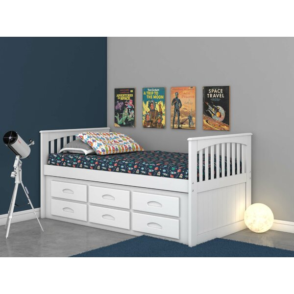 Trumble Twin Sleigh Bed with Drawers by Viv + Rae