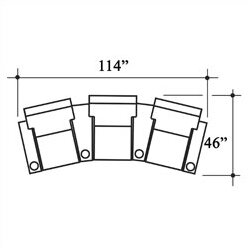 Celebrity Home Theatre Row Seating (Row Of 3) By Bass
