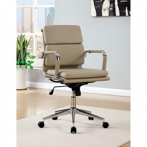 Boyajian Upholstered Swivel Office Chair by Latitude Run