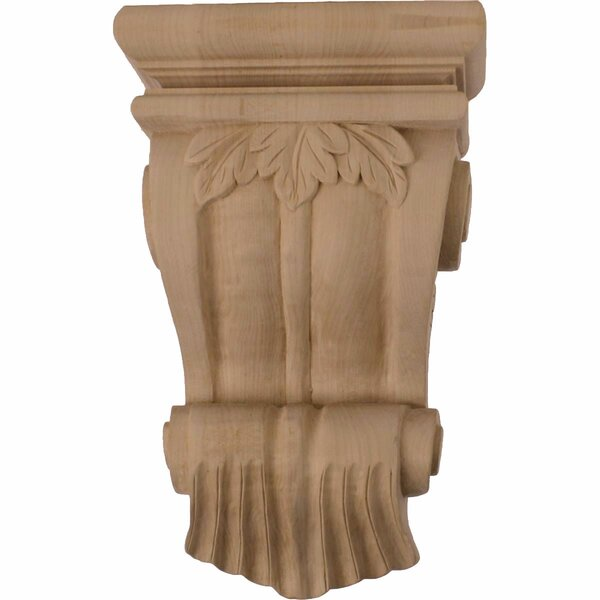Traditional 11H x 7W x 3 1/2D Leaf Corbel in Lindenwood by Ekena Millwork