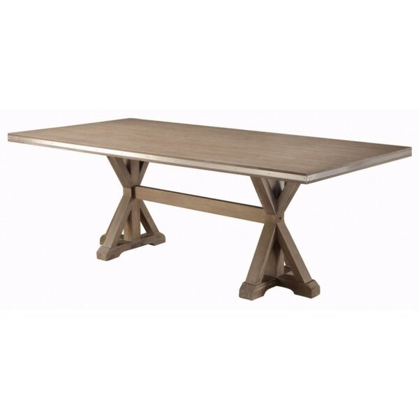 Lampkin Rectangular Solid Wood Dining Table by One Allium Way One Allium Way