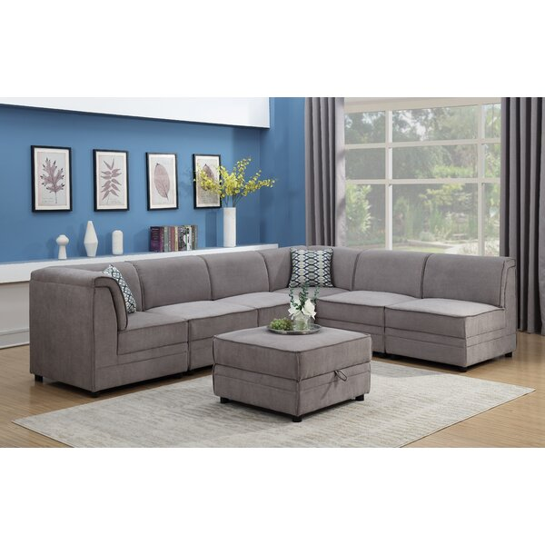 Hallatrow Reversible Modular Sectional with Ottoman by Alcott Hill