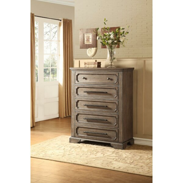 Burnside Classic Wooden 5 Drawer Chest by Ophelia & Co.